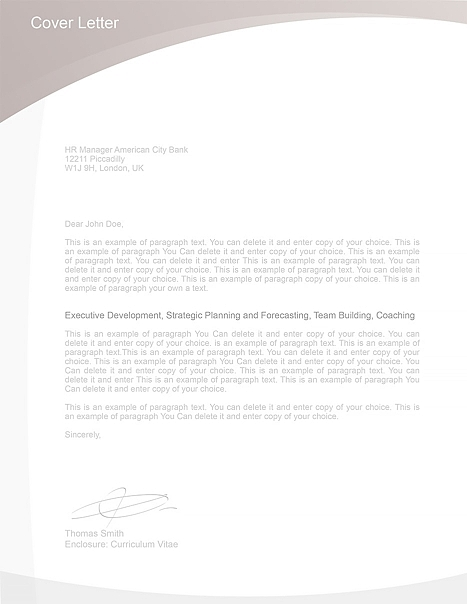 Cover Letter Template 105010