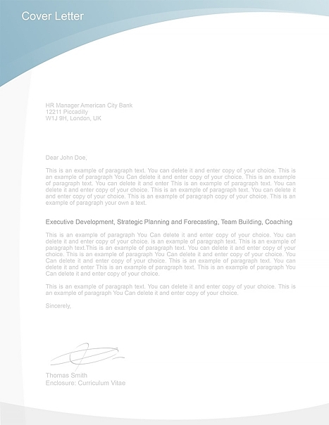 Cover Letter Template 105020