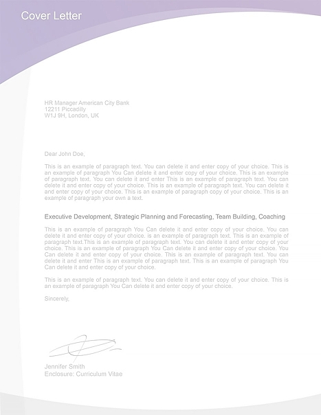 Cover Letter Template 105030