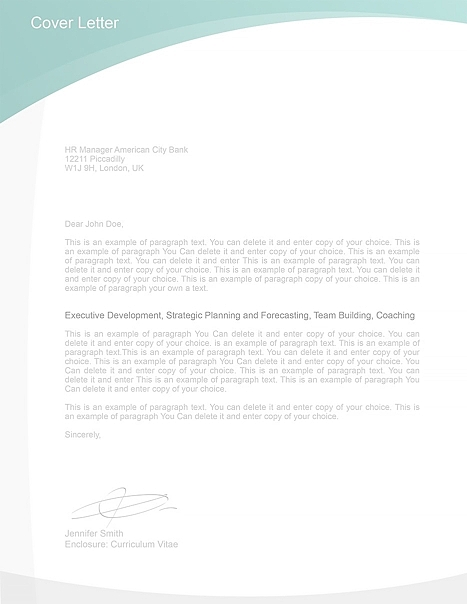 Cover Letter Template 105040
