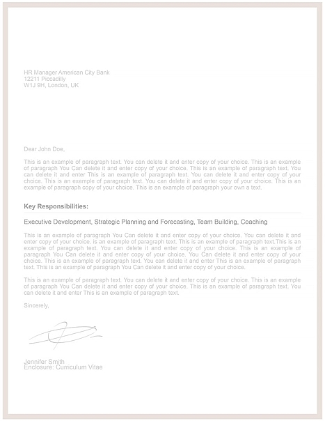 Cover Letter Template 106070