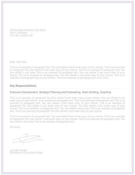 Cover Letter Template 106080