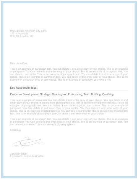 Cover Letter Template 106090