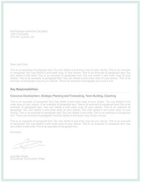 Cover Letter Template 107000