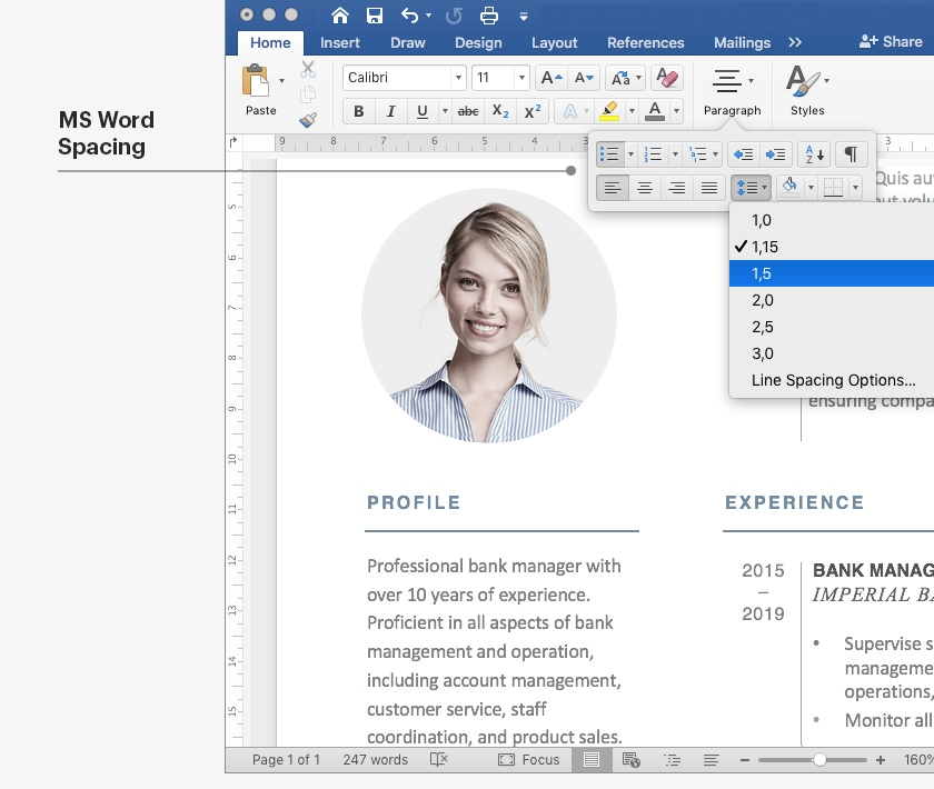 Creating White Space In A Resume Ms Word