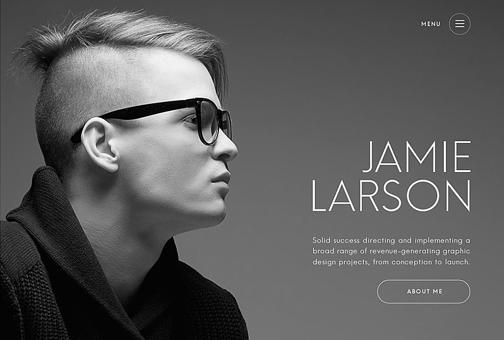 Designer Theme. Personal website.