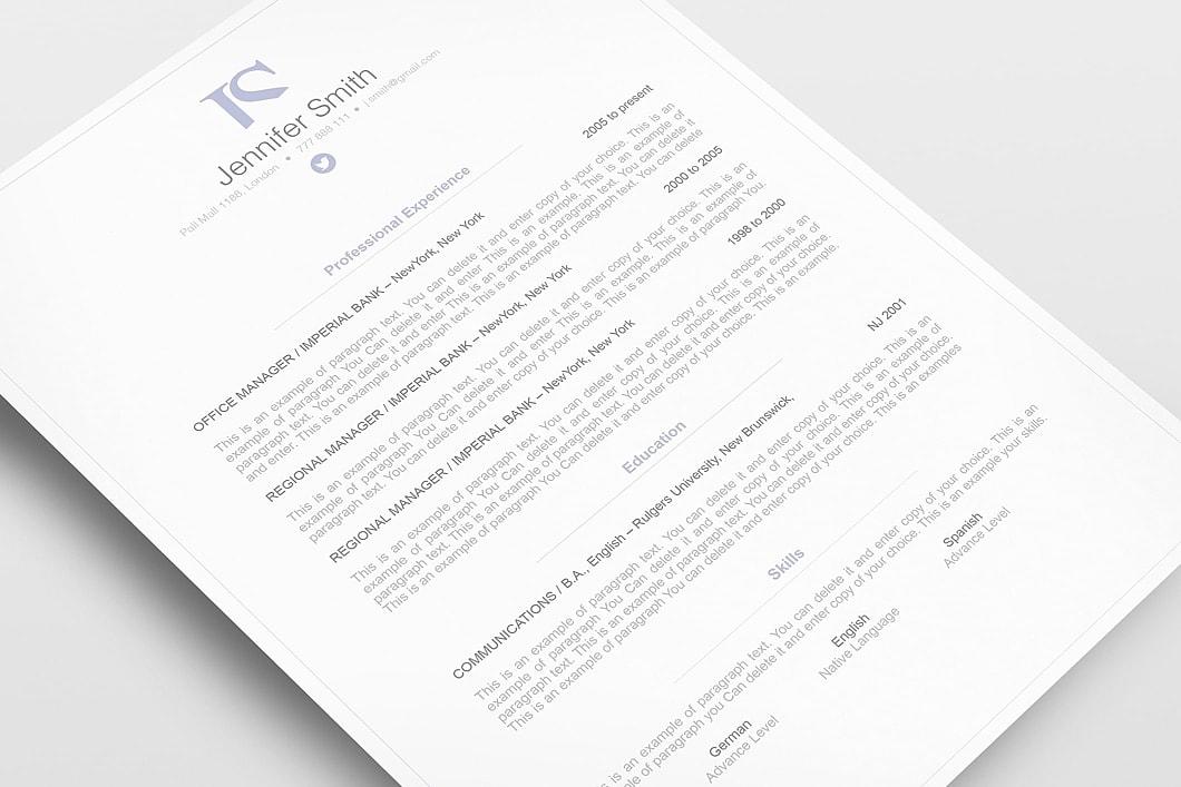 Elegant Cover Letter 110840