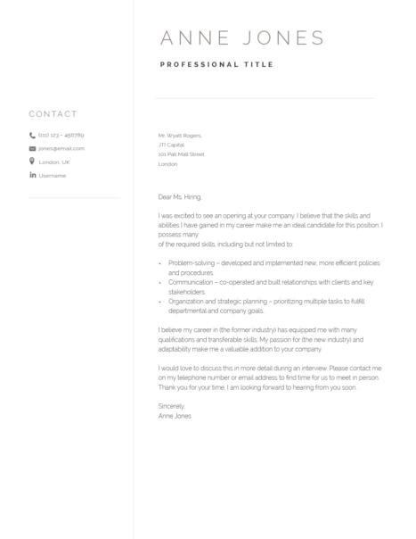 Elegant Cover Letter Template 120980