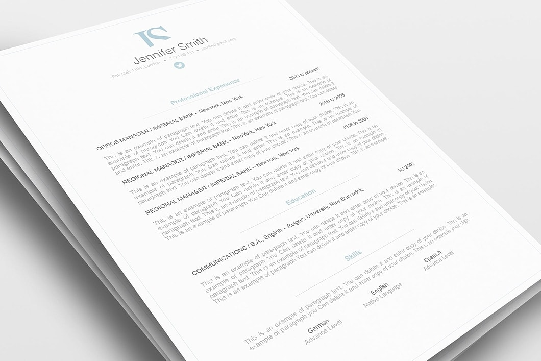 Elegant Resume Template 110830 0