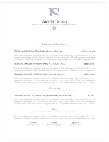 Elegant Resume Template 110840
