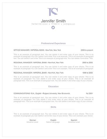 Elegant Resume Template 110840