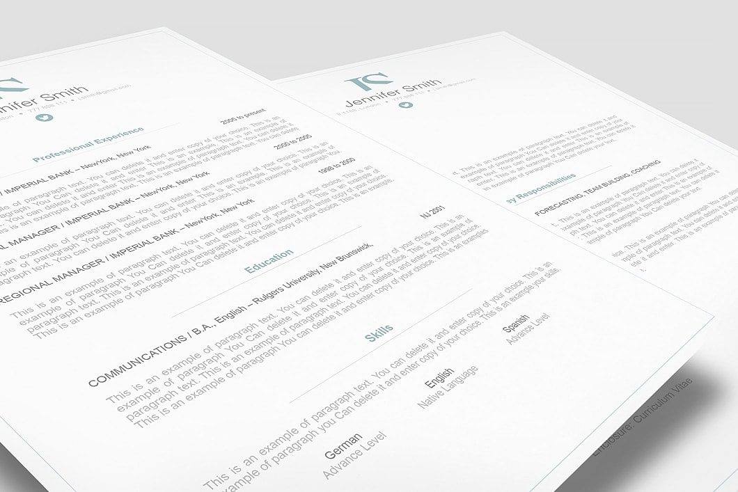 Elegant Resume Template 110860 1