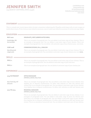 Elegant Resume Template 110900