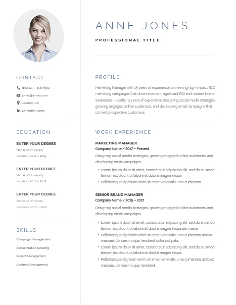 Elegant Resume Template 120970