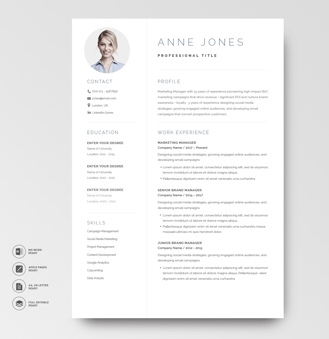 Elegant Resume Template 120970 5