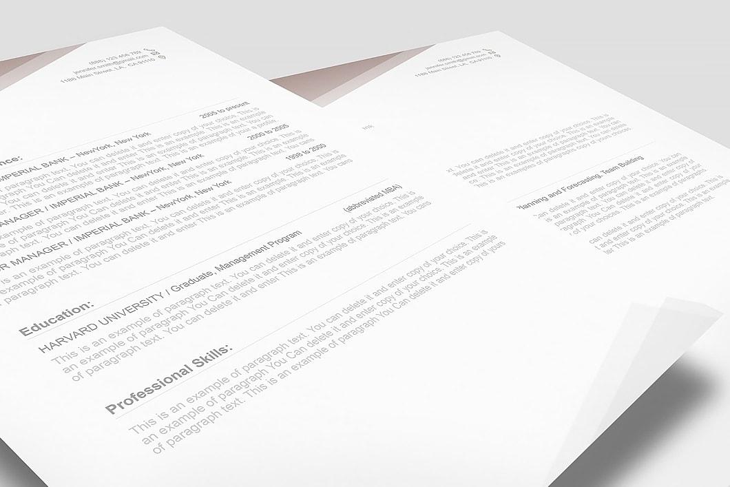 Free Resume Template 1100010 3
