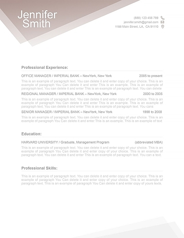 Free Resume Template 1100010