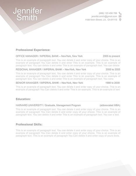 Free Resume Template 1100010