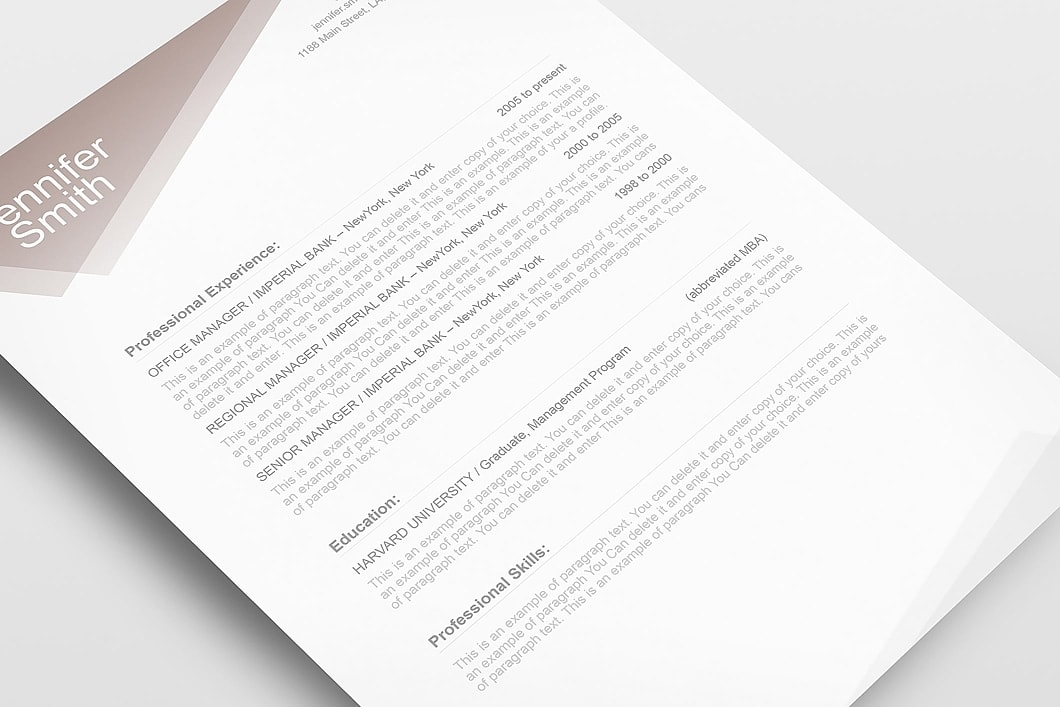 Free Resume Template 1100010 5
