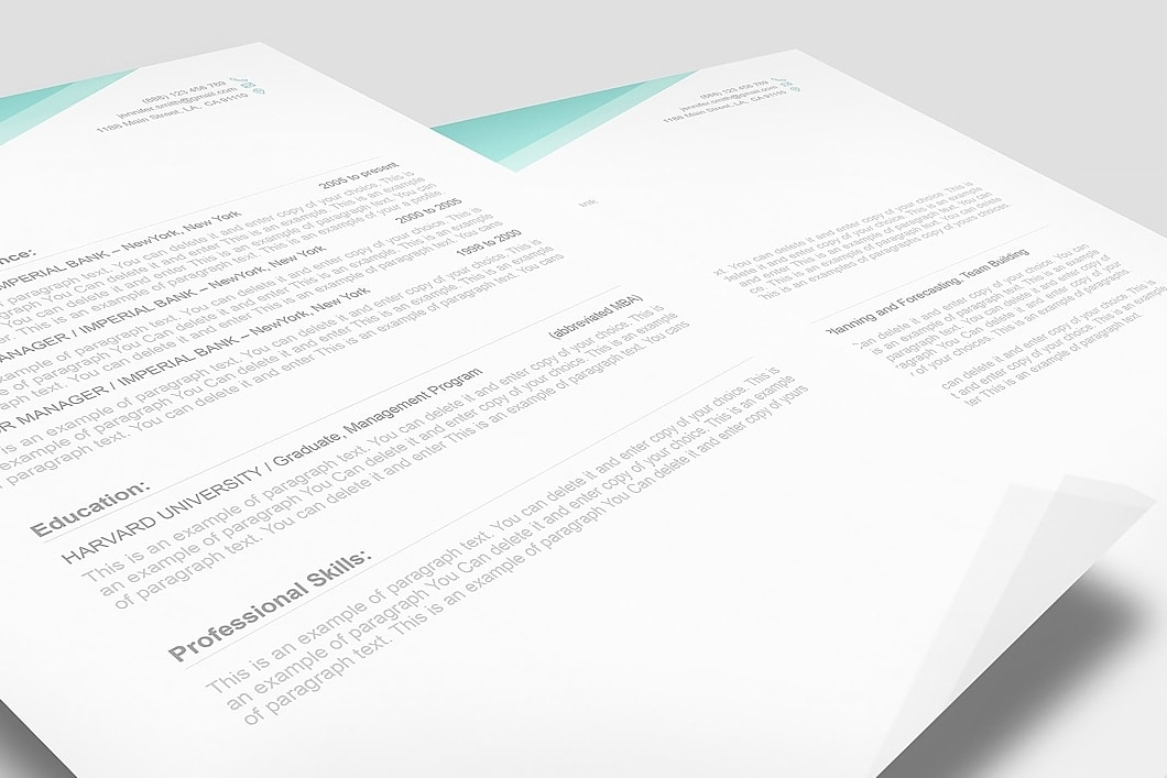 Free Resume Template 1100020 3