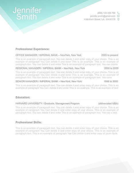 Free Resume Template 100020. Download for free. Microsoft Word, iWork Pages