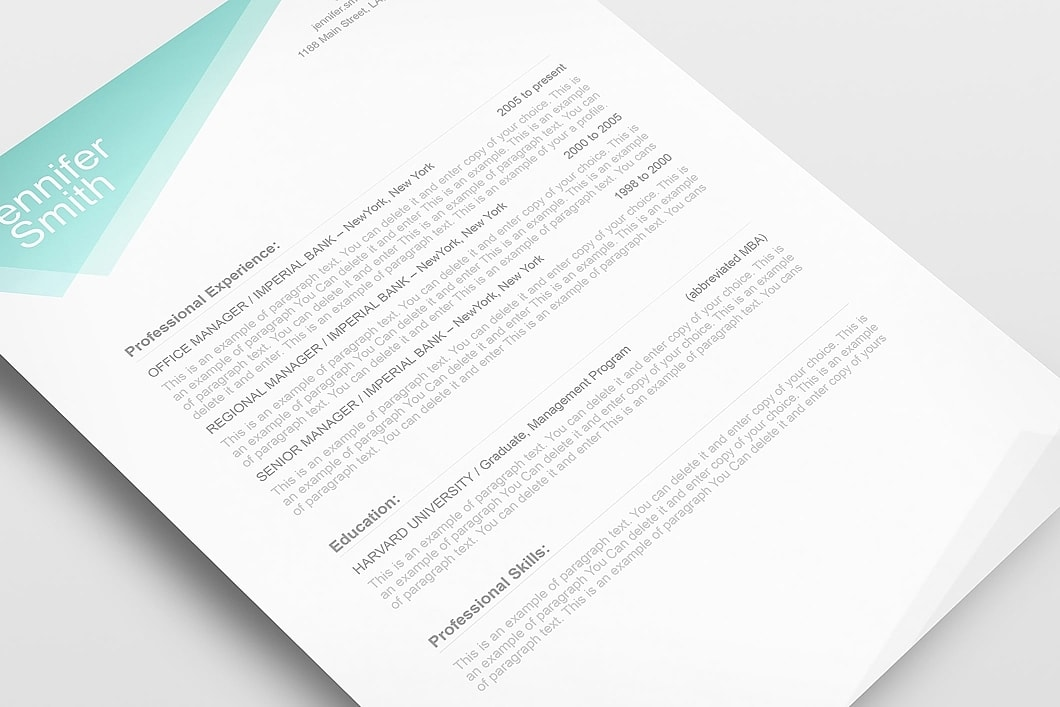 Free Resume Template 1100020 5