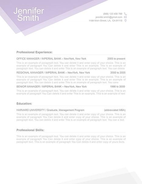 Free Resume Template 1100030