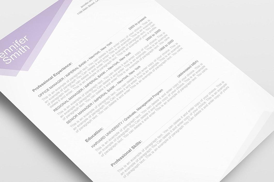 Free Resume Template 1100030 5