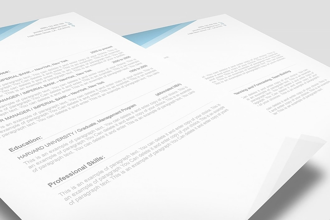 Free Resume Template 1100040 3