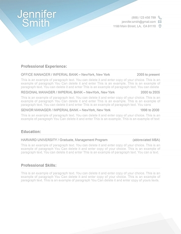 Free Resume Template 1100040