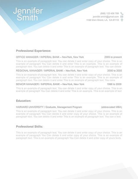 Free Resume Template 1100040