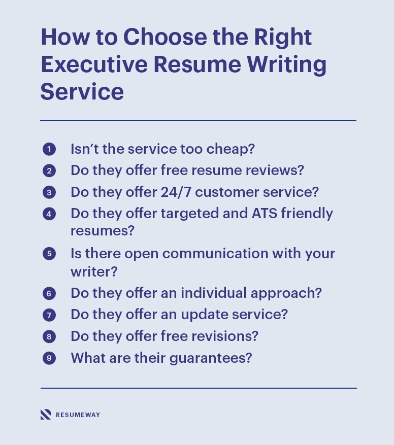 How To Choose An Executive Resume Writing Service