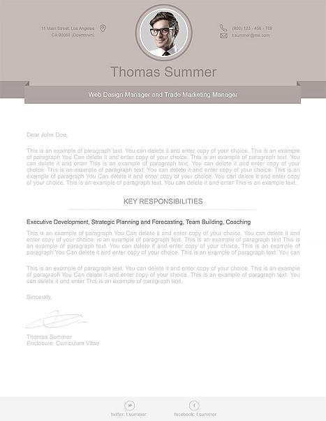 Modern Cover Letter 110500