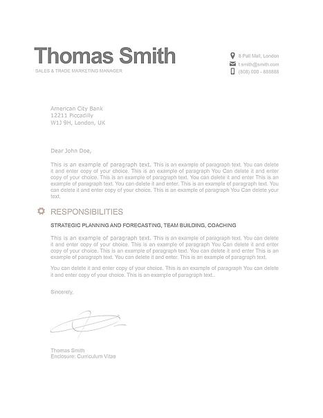 Modern Cover Letter 110790