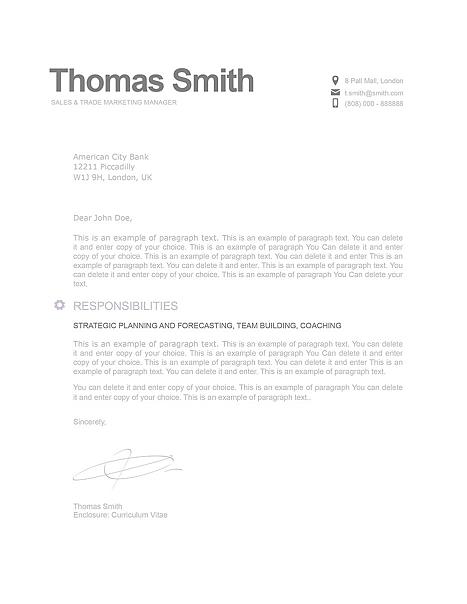 Modern Cover Letter 110800