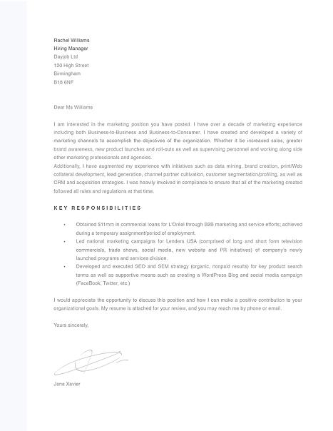Modern Cover Letter Template 120080