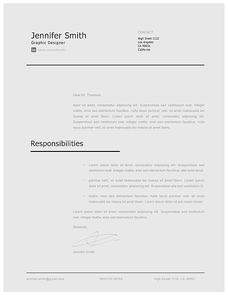 Modern Cover Letter Template 120230
