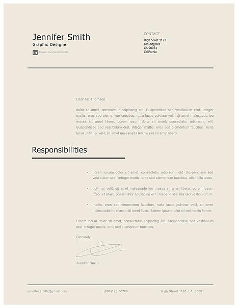 Modern Cover Letter Template 120240