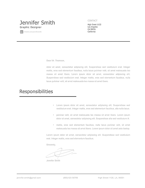 Modern Cover Letter Template 120250