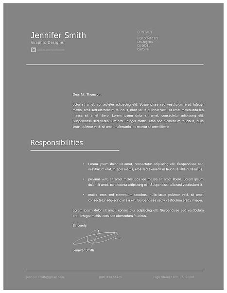 Modern Cover Letter Template 120260