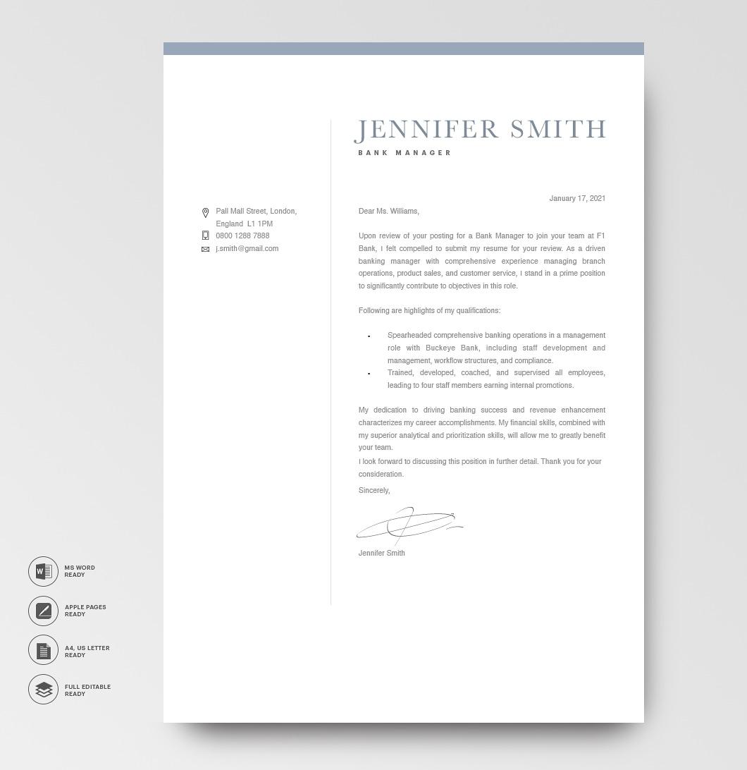 Modern Cover Letter Template 120270