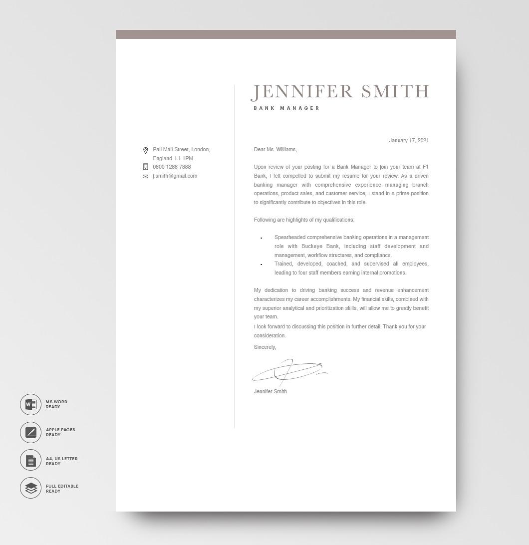 Modern Cover Letter Template 120280