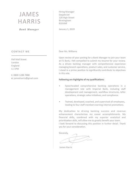 Modern Cover Letter Template 120440