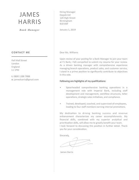 Modern Cover Letter Template 120450