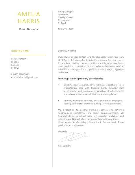 Modern Cover Letter Template 120460
