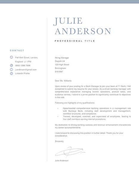 Modern Cover Letter Template 120510
