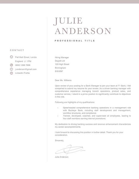 Modern Cover Letter Template 120530