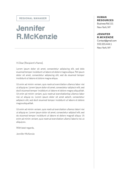 Modern Cover Letter Template 120740