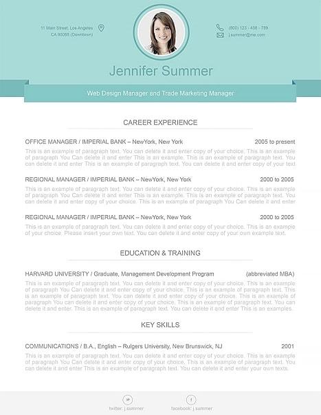 Modern Resume Template 110470