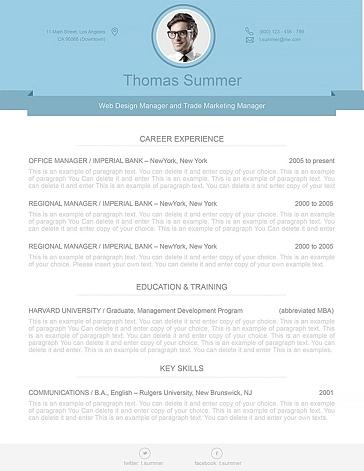 Modern Resume Template 110480